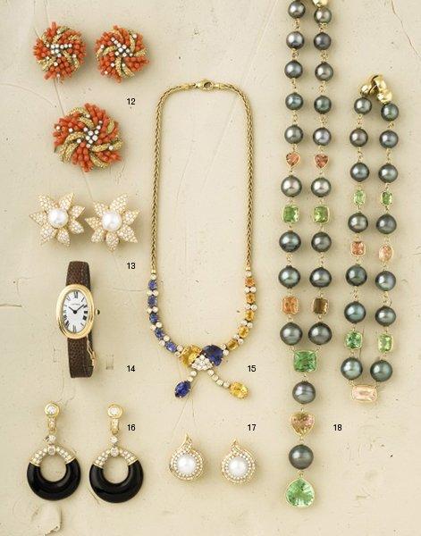 15:        A Multi-Colored Sapphire and Diamond-Set Nec