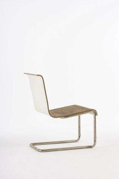 2002:  ALVAR  AALTO    Cantilevered chair, model no. 23