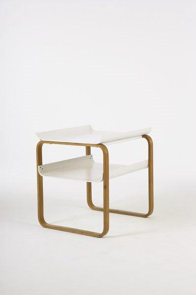 "2005:  ALVAR  AALTO    ""Paimio"" table, model no. 75/915"