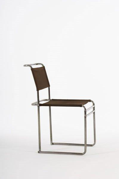 2011:  MARCEL  BREUER    Side chair, model no. B5,  ca.
