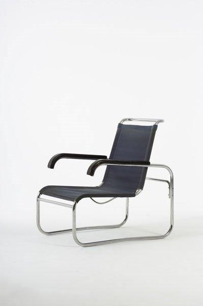 2013:  MARCEL  BREUER    Armchair, model no. B35,  ca.
