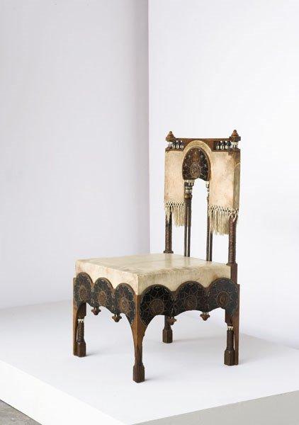 3001:  CARLO  BUGATTI    Chair, ca. 1902  Wood, ivory,