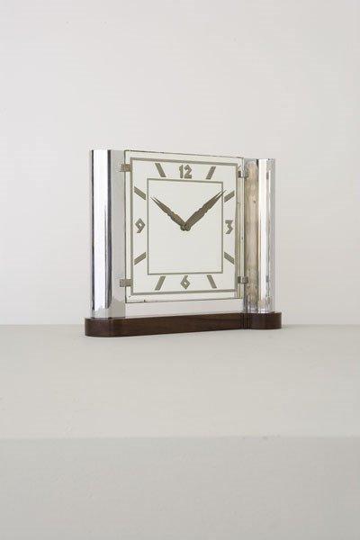 3014:    LA MAISON DESNY    Clock, ca. 1928  Nickel-pla