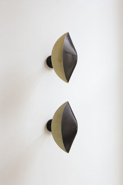 """3128:  SERGE  MOUILLE    Pair of """"Antony"""" wall sconces,"""
