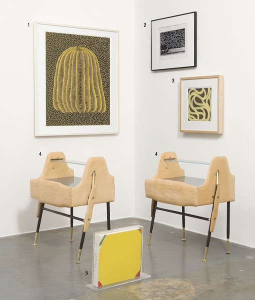 4:  in the style of ICO  PARISI    Pair of end tables,