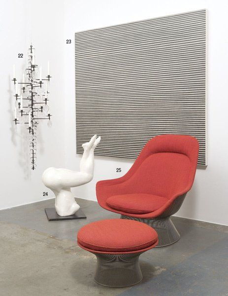 24:  LOUIS  DROUOT    Female figural chair, 1990s.  Pol