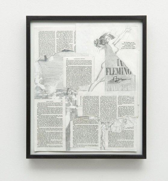 365:  JIM  SHAW  (b. 1952)  Man Licker.  Graphite and c