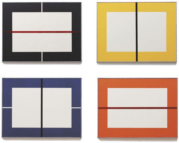 4:  DONALD  JUDD  1928-1994  Untitled, 1993  Set of 4 w