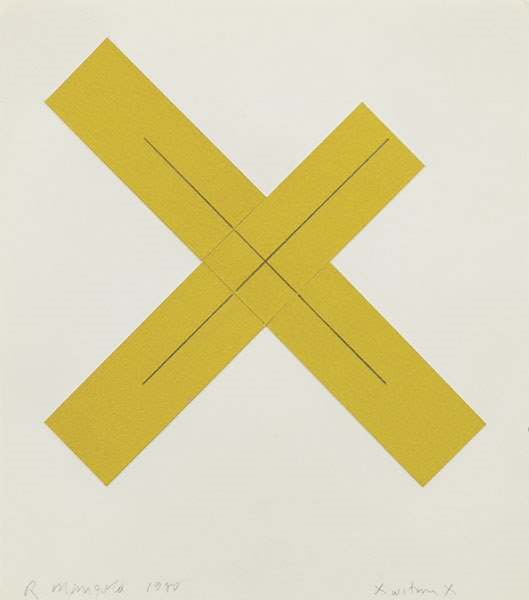 5:  ROBERT  MANGOLD  b. 1937  X within X, 1980  Acrylic