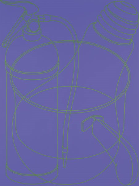 7:  MICHAEL   CRAIG-MARTIN  b. 1941  Portrait (Purple),