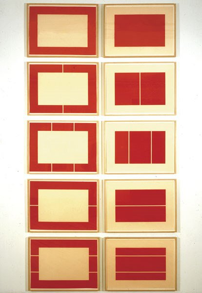 13:  DONALD   JUDD  1928-1994  Untitled, 1988  Set of 1