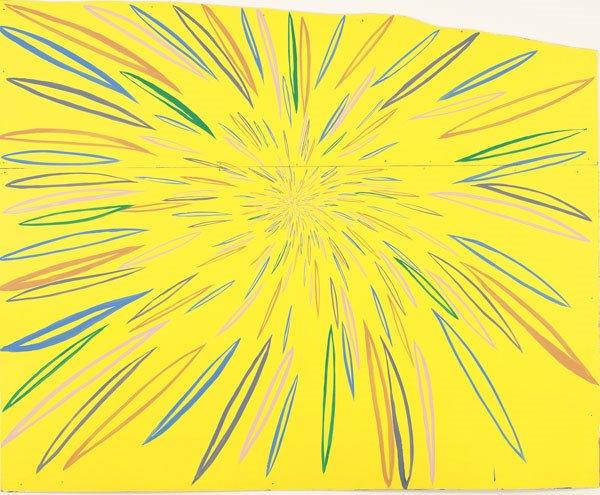 65:  CHRIS  JOHANSON  b. 1968  Yellow Burst, 2002    71