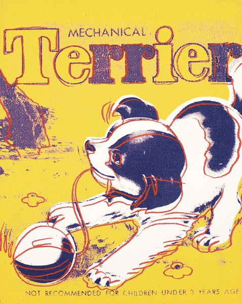 69:  ANDY  WARHOL  1928-1987  Terrier, 1983  Synthetic