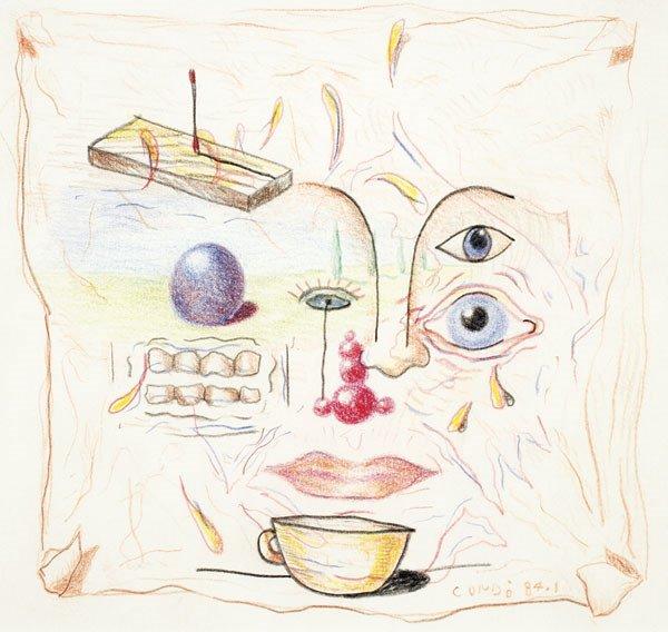 74:  GEORGE  CONDO  b. 1957  Untitled, 1984  Colored pe