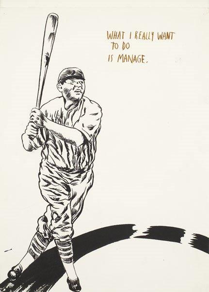 96:  RAYMOND  PETTIBON  b. 1957  Untitled (What I reall