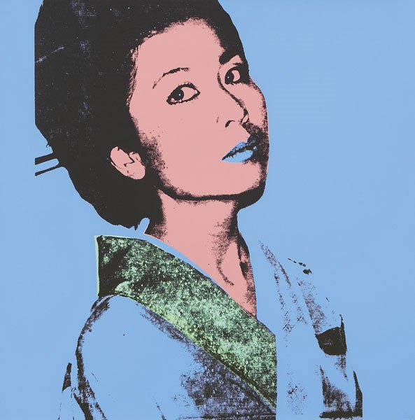 198:  ANDY  WARHOL  1928-1987  Kimiko, 1981  Color scre