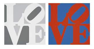 1032: ROBERT INDIANA b. 1928 Love (Two works), 1996