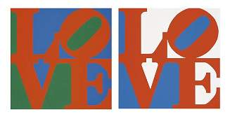 1033: ROBERT INDIANA b. 1928 Love (Two works), 1996