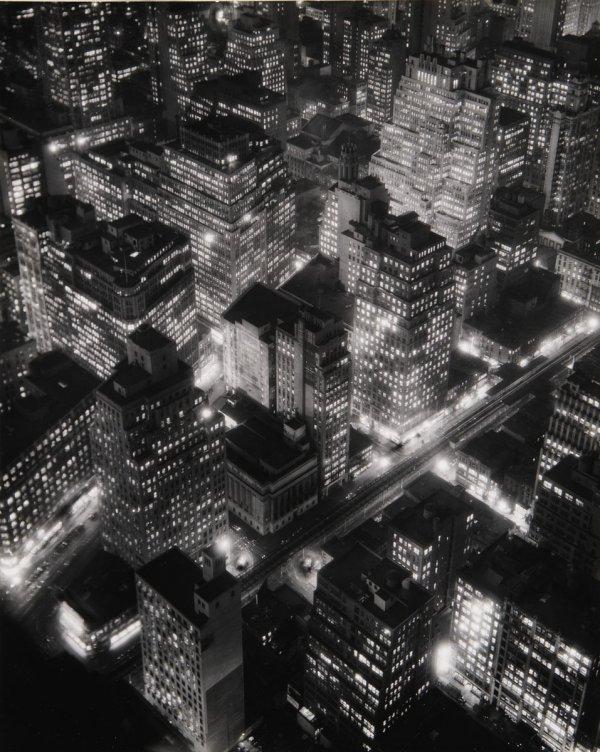 10:  BERENICE  ABBOTT  1898-1991  New York at Night, 19