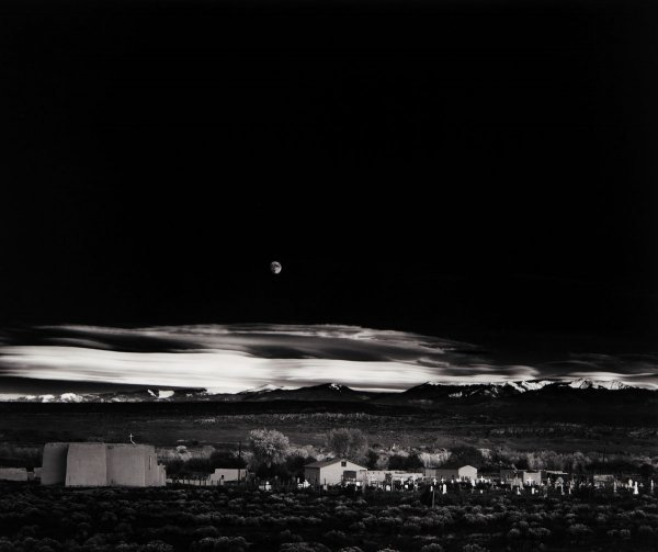 12:  ANSEL  ADAMS  1902-1984  Moonrise, Hernandez, New