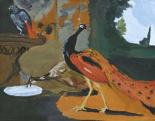 103:  KAREN  KILIMNIK  b. 1955  Exotic Birds Eating Bre