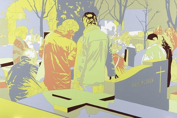 106:  LISA  RUYTER  b. 1968  The Hole, 2001  Acrylic on