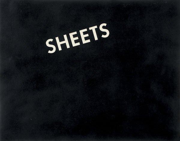 118:  EDWARD  RUSCHA  b. 1937  Sheets, 1973  Graphite o