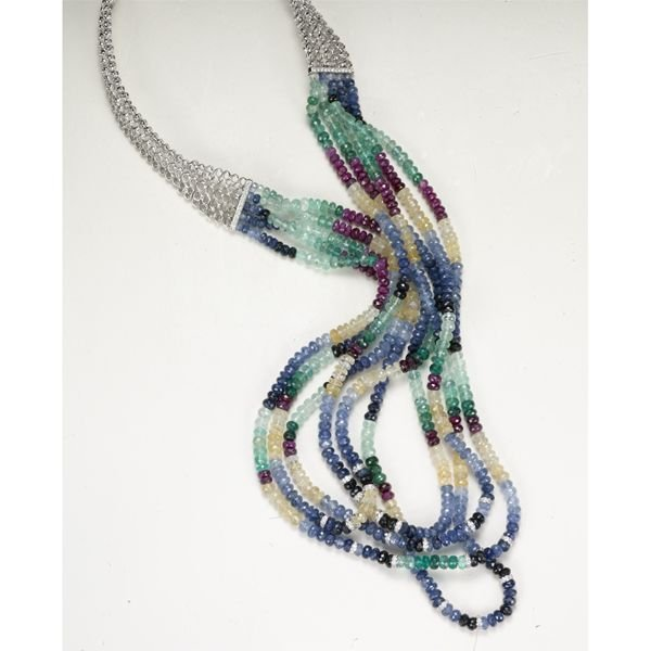 1:        A Ruby, Emerald, and Sapphire Necklace  Compo