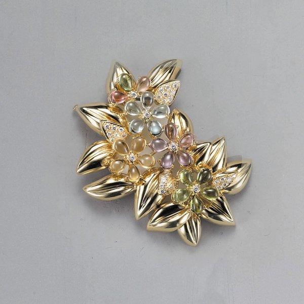 12:        A Multi-color Sapphire, Diamond and Gold Bro