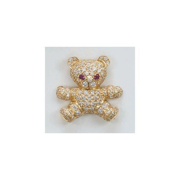 22:        A 'Teddy Bear' Diamond Pin  Designed as a pa
