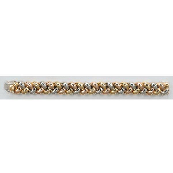 23:    POIRAY    A Gold Bracelet  Designed as a tri-col
