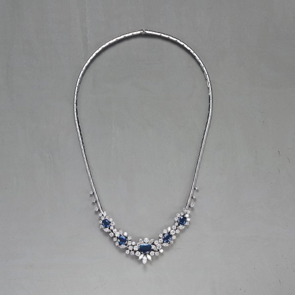 24:    BUCHERER    A Sapphire and Diamond Necklace  The