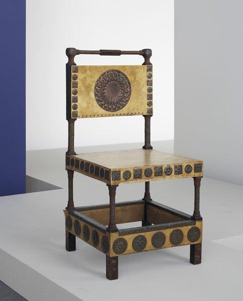 1:  CARLO  BUGATTI  1855-1940  Chair, ca. 1902  Wood, p