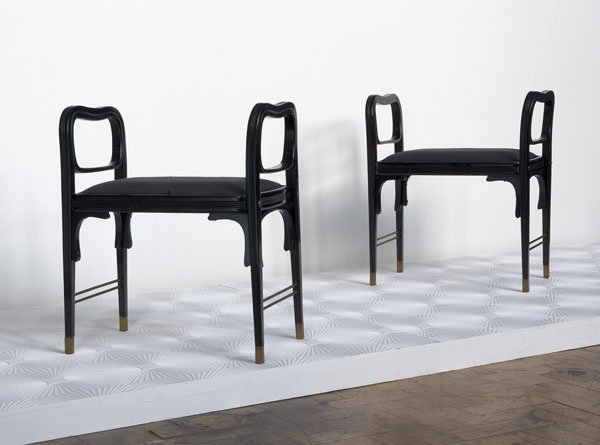 6:  Attributed to OTTO  WAGNER  1841-1918  Pair of stoo