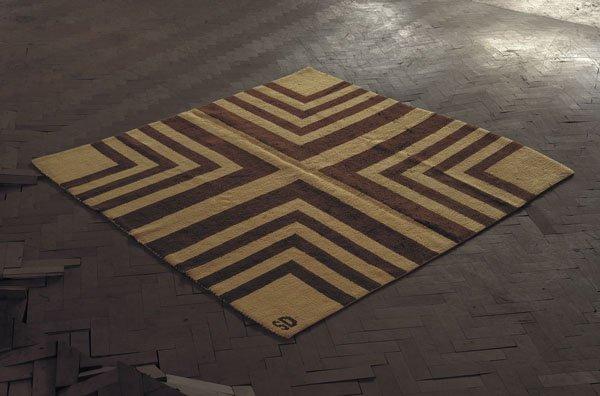 8:  SONIA  DELAUNAY  1885-1979  Rare rug, ca. 1928  Han