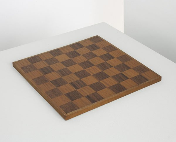 15:  UNKNOWN DESIGNER      Rare chessboard, from the Ba