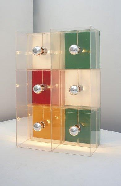"""213:  GIANNI  COLOMBO  1937-1992  Rare """"Teorema"""" lamp,"""