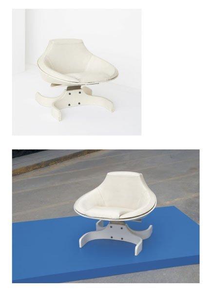 "218:  JOE  COLOMBO  1930-1971  Pair of ""Sella"" armchair"