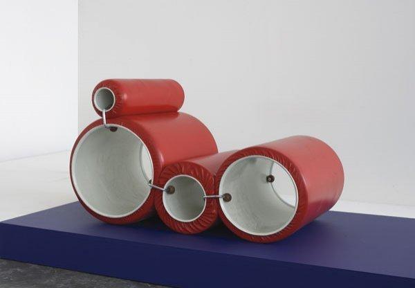 "221:  JOE  COLOMBO  1930-1971  ""Tubo"" chair, ca. 1970"