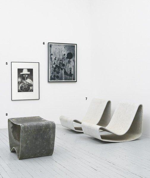 1008:  LUDWIG  WALSER  b. 1936  Garden stool, designed