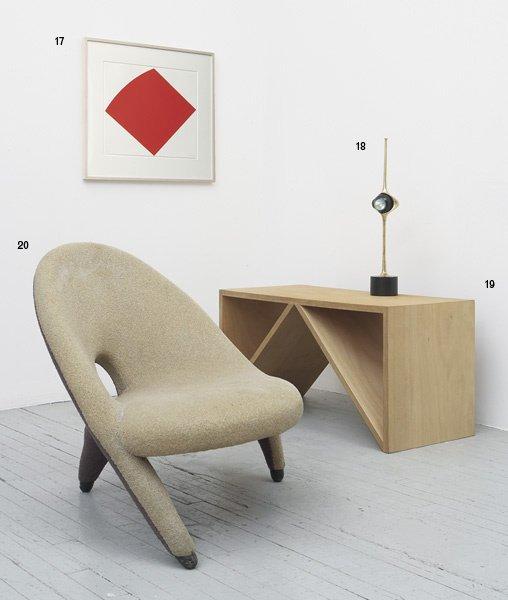 """1020:  FOLKE  JANSSON    """"Arabesque"""" armchair, ca. 1955"""