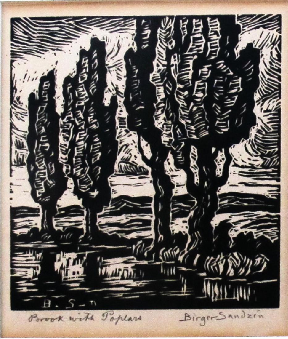 Brook with Poplars - 2
