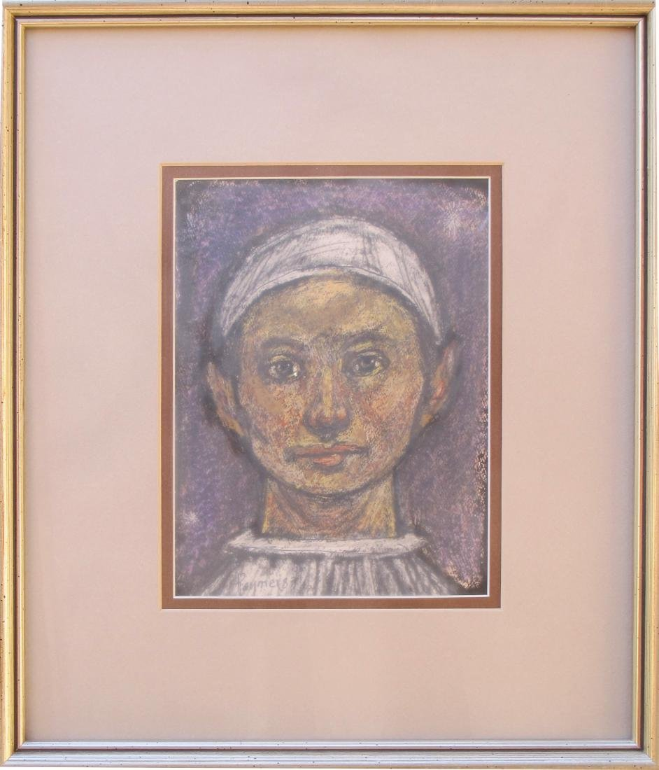 boy with white hat