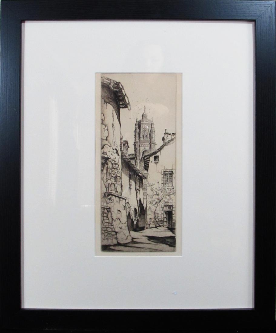 "John Taylor Arms etching ""Rodez"" 1927"