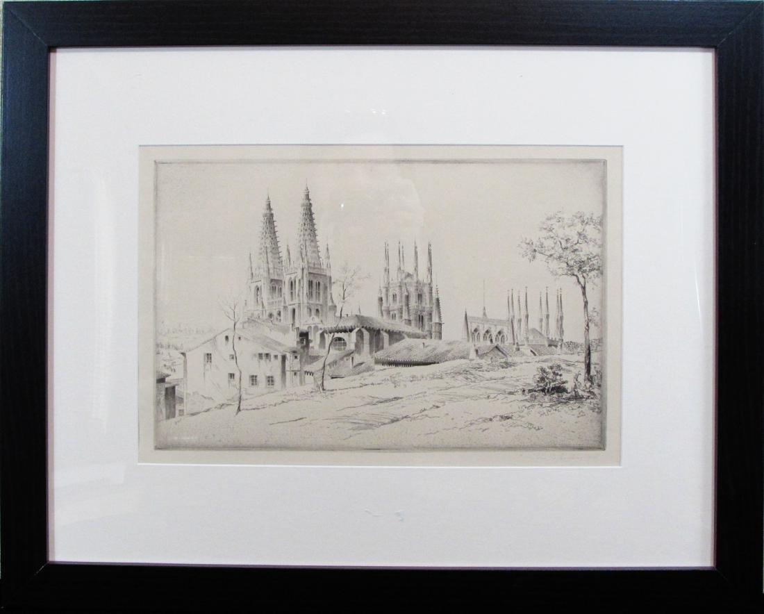"""John Taylor Arms, etching, """"Bougis"""""""