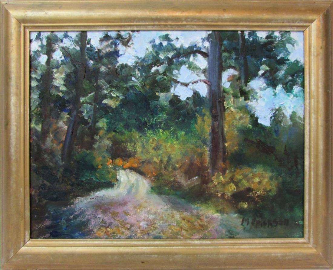 Mary Erickson, oil on board, untitled