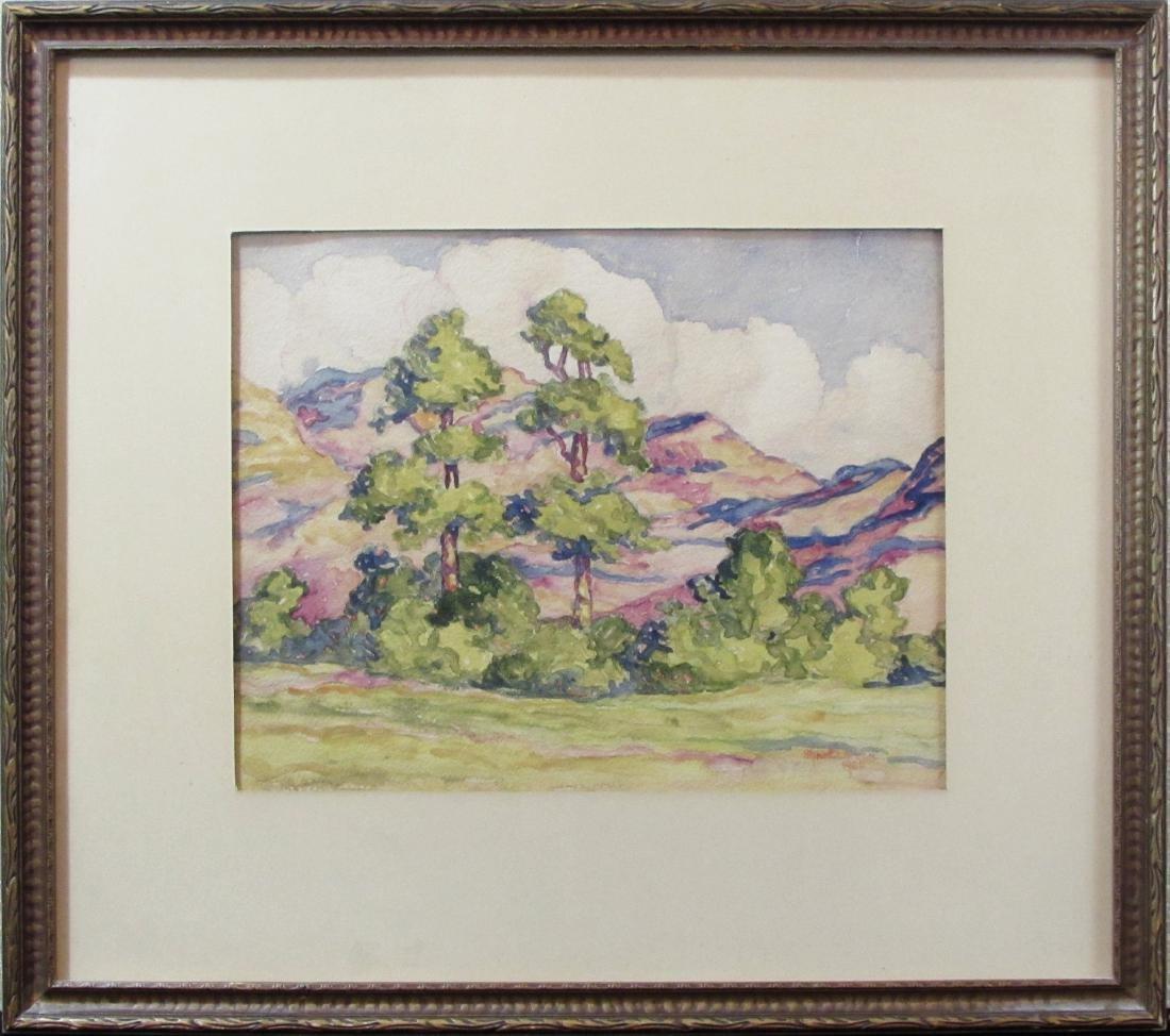 Signe Larson, watercolor, untitled Sandzen influence