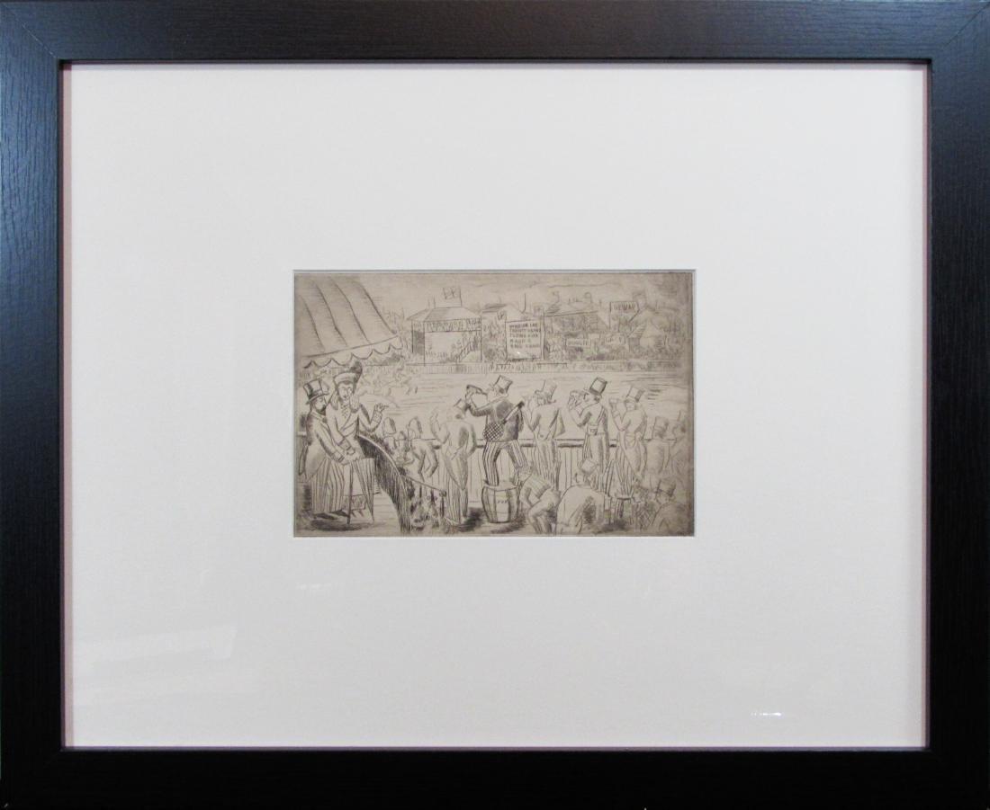 untitled original etching, unknown artist
