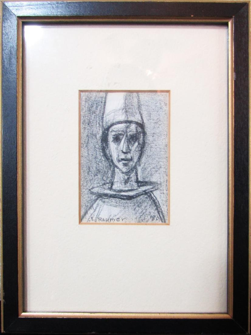 Lester Raymer, pencil sketch, 1980