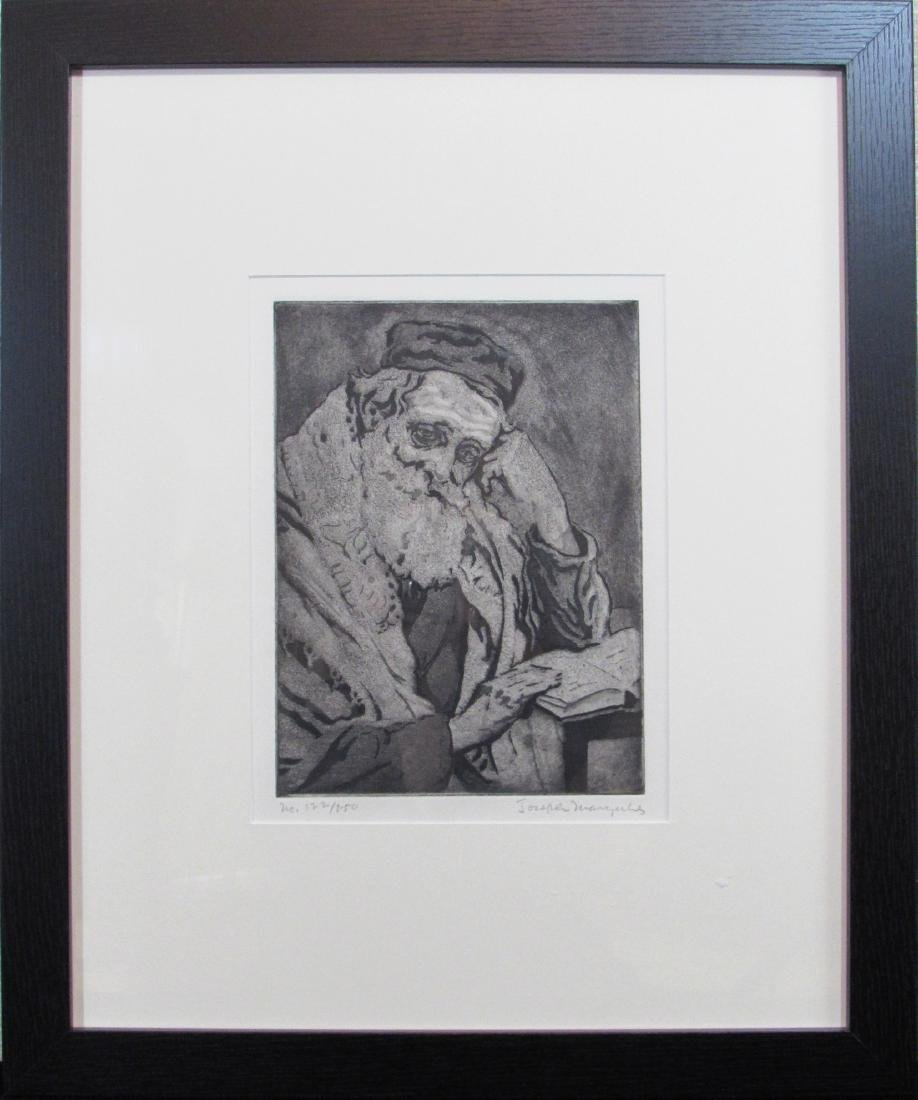 "Joseph Margulies, aquatint, ""Meditation"""